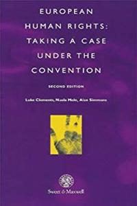 European Human Rights: Taking a Case Under the Convention epub download