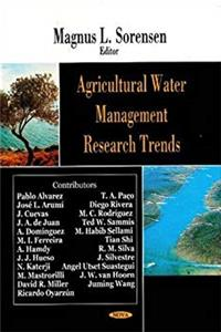 Agricultural Water Management Research Trends epub download